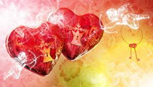 Фото День всех влюблённых Ангел Сердце Два