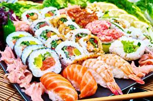 Обои Морепродукты Суши Еда