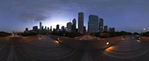 Фотографии Дома Дороги Штаты Чикаго город Города