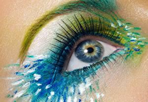 Картинка Глаза Крупным планом Ресница Мейкап