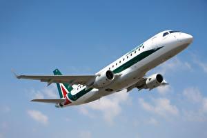 Фотографии Самолеты Пассажирские Самолеты Alitalia Embraer E175