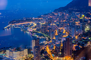 Фотография Монако Дома Пирсы Монте-Карло Ночные город