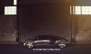 Обои Audi Черный Сбоку Concavo R8 Chrome CW-5 Автомобили фото