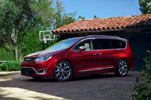 Обои Chrysler Красный Металлик 2016 Pacifica автомобиль