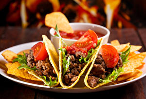 Картинка Быстрое питание Мясные продукты Овощи Чипсы Tako