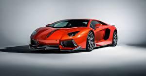 Обои Lamborghini Роскошные Оранжевый 2015 lp-700-4 aventador