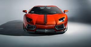 Фото Lamborghini Спереди Роскошные Оранжевый 2015 lp-700-4