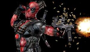 Картинка Deadpool герой Автоматы Маски Герои комиксов Стрельба Игры Фэнтези