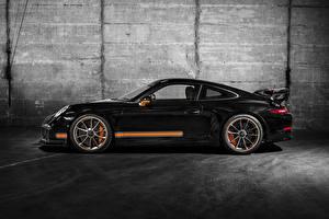 Обои Porsche Черный Сбоку 2014 TechArt 911 GT3 Автомобили фото