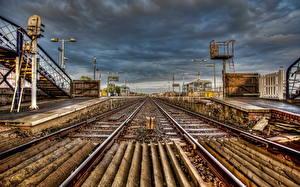 Фотографии Железные дороги Рельсах Города