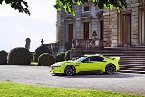Картинки БМВ Желто зеленый 2015 CSL Hommage Автомобили