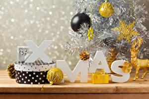 Фото Рождество Праздники Шар Подарки