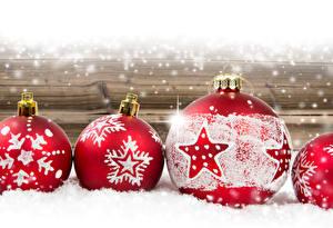 Обои Рождество Праздники Снежинки Шар