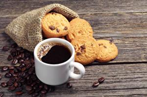 Обои Напитки Кофе Печенье Зерна Чашка Продукты питания