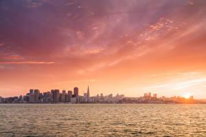 Картинки Берег Дома США Океан Сан-Франциско