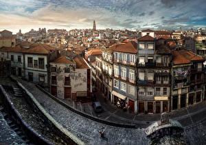 Фотография Португалия Здания Портус Кале Улица Города