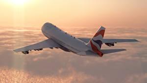 Обои Самолеты Пассажирские Самолеты Небо