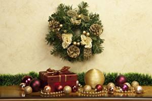 Фотографии Новый год Праздники Подарки Шарики