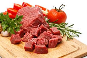Фотографии Мясные продукты Помидоры Крупным планом Еда