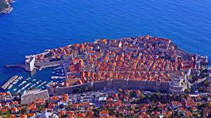 Фотография Здания Хорватия Дубровник Сверху Города