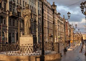 Фотография Россия Памятники Санкт-Петербург Улица Уличные фонари Nikolai Gogol