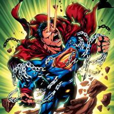 Фотографии Герои комиксов Супермен герой Цепь Фэнтези
