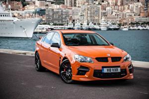 Обои Ваухал Оранжевый 2014 VXR8 GTS автомобиль