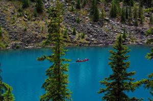 Фото Канада Озеро Парки Банф Ель Moraine Lake Природа