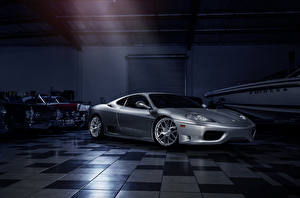 Фотографии Ferrari Серебристый 360 Modena Машины