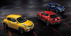 Картинка Nissan Втроем Парковке 2014 Juke JP-spec YF15