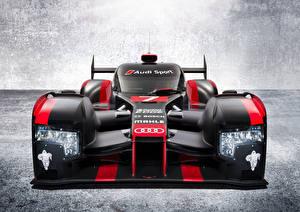 Картинка Формула 1 Audi Спереди Черный R18 e-tron quattro Автомобили