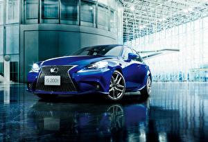 Картинки Lexus Синий 2015 IS 200 F-Sport JP-spec XE30 Машины
