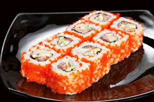 Обои Морепродукты Суши Крупным планом Еда фото