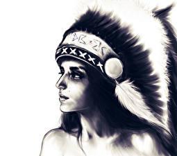 Картинки Рисованные Индейцы Девушки