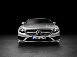 Фото Mercedes-Benz Спереди 2015 AMG S-Class S 63 A217 Автомобили
