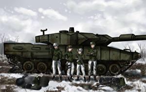Танки Солдаты Leoprad