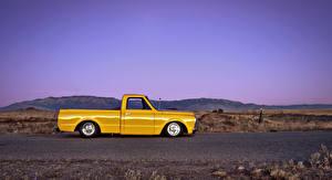 Обои Chevrolet Сбоку Желтый C10 1969 Автомобили фото