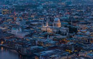 Обои Дома Англия Сверху Лондон город
