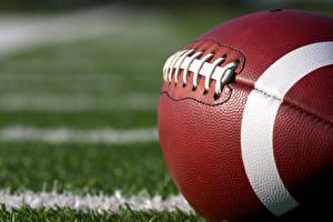 Фото Вблизи Американский футбол Макросъёмка Мяч