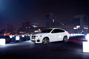 Фотография БМВ Белых Ночные 2015 AC Schnitzer ACS X4 Автомобили