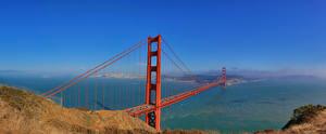 Фотография Небо Мосты Штаты Сан-Франциско Golden Gate Bridge