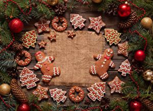 Обои Рождество Печенье Шарики
