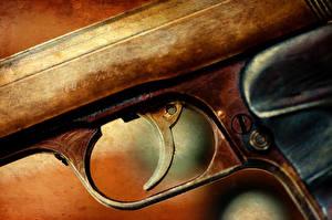 Картинка Пистолеты Вблизи Макро Армия