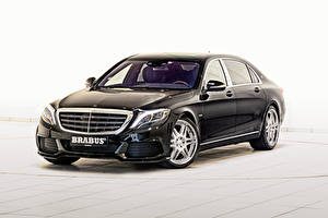Картинки Mercedes-Benz Brabus Черный 2015 Brabus Rocket 900 X222