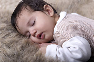 Картинка Младенцы Лицо Спящий Дети