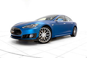 Фотографии Tesla Motors Brabus Машины 2015 Brabus Model S Автомобили