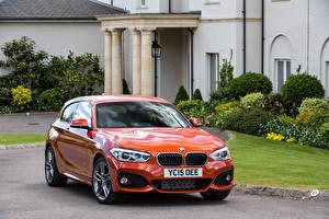 Фотография BMW Оранжевый 2015 M120i Sport 3-door UK-spec F21 машины