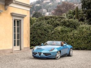 Картинки Alfa Romeo Тюнинг Голубых Металлик Кабриолет 2016 Carrozzeria Touring Disco Volante spyder авто
