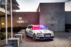Картинка Audi Полицейские Универсал 2015 RS 4 Avant Police Автомобили