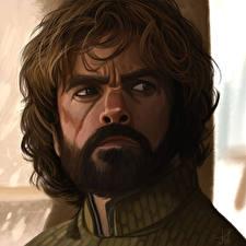 Обои Игра престолов (телесериал) Мужчины Питер Динклэйдж Взгляд Лицо Tyrion Фильмы фото